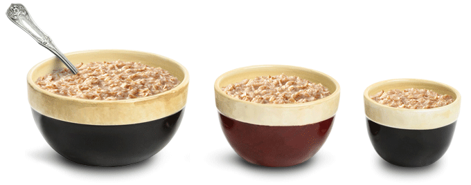 bowls-with-oatmeal